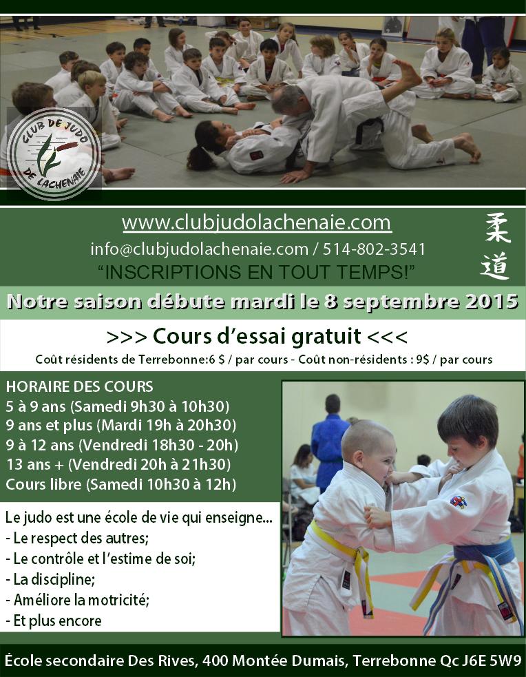 Fiche club judo Lachenaie (Des Rives)_Saison 2015-2016